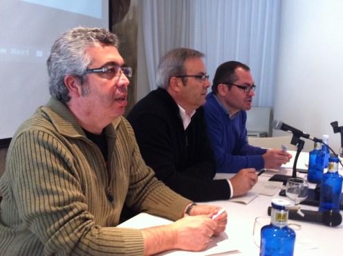 Josep Antoni Prats (ERC), Vicent Torres (PSOE), Josep Costa (GxE). Foto: D.V.
