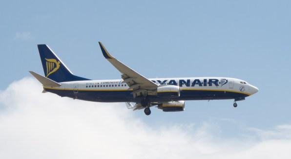 Un avión de Ryanair. Foto: Carlos Delgado (Wikipedia)