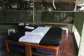 Los clientes también pueden darse un masaje.