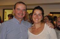 Jaume Ferrer y Silvia Tur tras conocer la amplia victoria de su formación en la isla. Foto: Miquel Costa