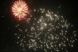 Fuegos artificiales de las Festes de la Terra 2015.
