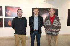Pep Tur, David Ribas y Josep Lluís Bofill, en la presentación de la muestra.