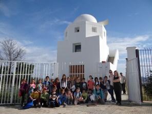 La visita del Colegio s'Olivera al Observatorio de Puig des Molins. Foto: AEE