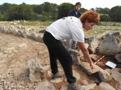 El equipo responsable de la intervención del yacimiento en Es Cap de Barbaria.