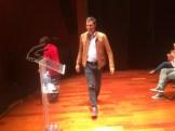 El candidato en las primaria del PSOE, Pedro Sánchez, en el auditorio de Cas Serres. Foto: L.A.