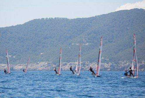 Imagen de 29er en el Campeonato de España, en Santa Eulália