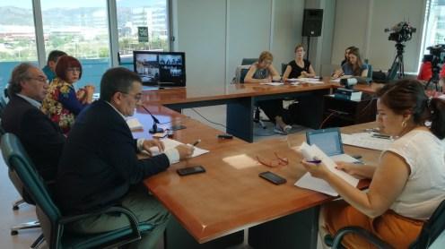 El conseller Martí March ha presentado hoy la cifras de escolarización.