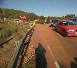 La carretera con el tráfico restablecido. Foto: Consell d'Eivissa