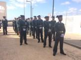 Los agentes de la Guardia Civil durante los actos de festejos.