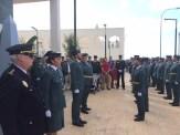 Los agentes y mandos de la Guardia Civil y de otras cuerpos del estado en el Cuartel de Can Cifre.