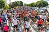 Salida de la primera etapa de la nueva edición de la Vuelta Cicloturista a Ibiza. Foto: Jon Izeta