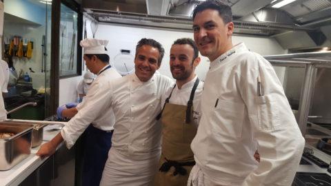 José Miguel Bonet (Es Ventall), Óscar Molina (Ibiza Gran Hotel) y Pau Barba (Can Domo).