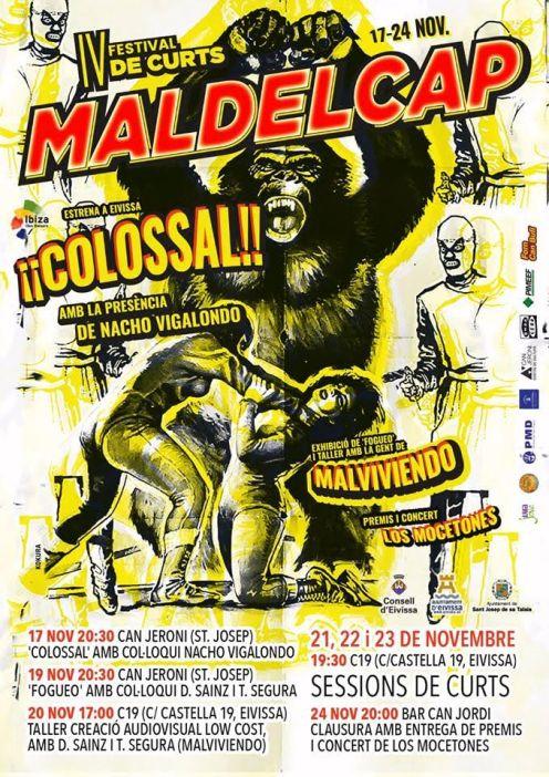 Cartell de la quarta edició del Festival Internacional de Curtmetratges 'Mal del Cap'