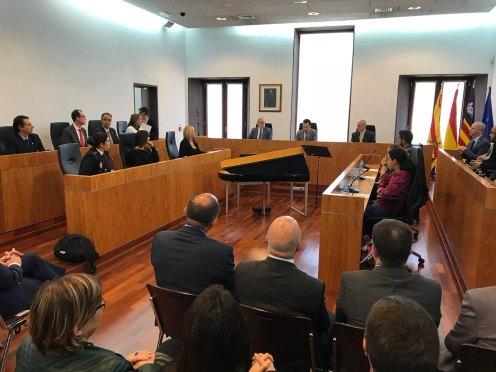 La sala de plenos del Ayuntamiento de Ibiza acogió la celebración del Día de la Constitución.
