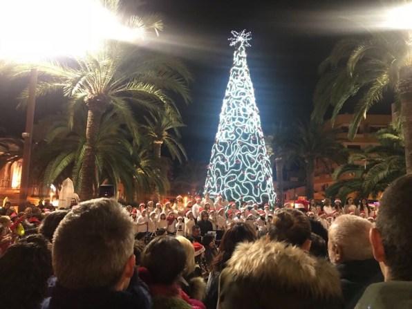 Encesa de l'enllumenat de Nadal de Santa Eulària