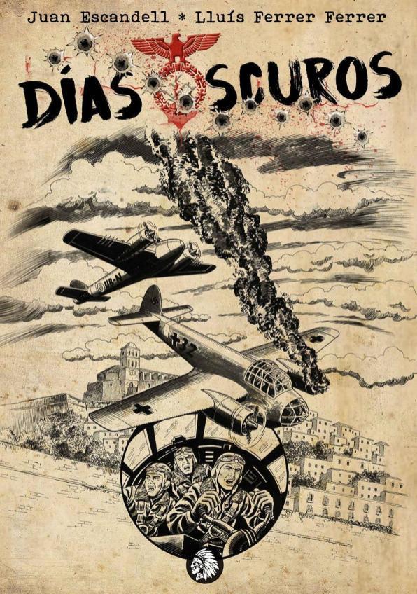 Portada de 'Días Oscuros', la novela gráfica