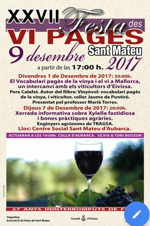 Cartel XXVII Festa des Vi Pagès 2017