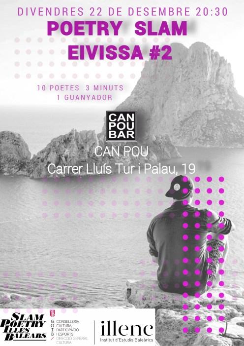 Cartel de la segunda edición de Poetry Slam de Eivissa