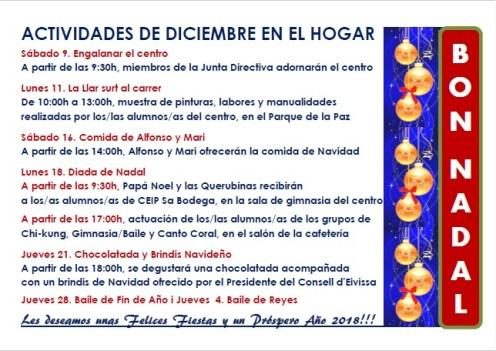Programa de actividades navideñas
