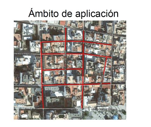 Imagen de las calles afectadas por la declaración ZPAE.