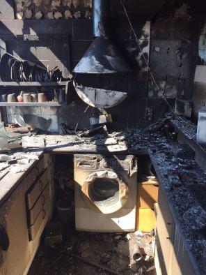 Fotos incendio en Vila - casera pirómana