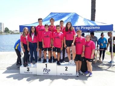 Finalistas Ibiza Piragüismo Escolar