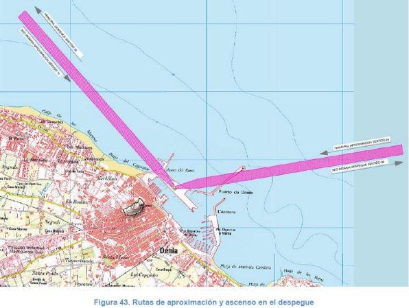Imagen del proyecto, con la línea Ibiza-Dénia marcada.