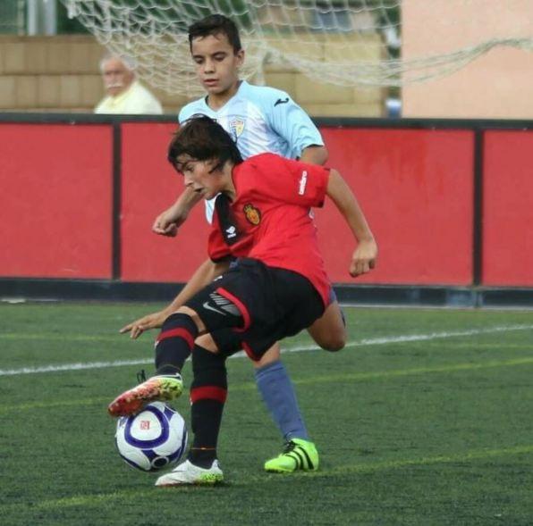 Luka Romero, en un partido con el Mallorca.
