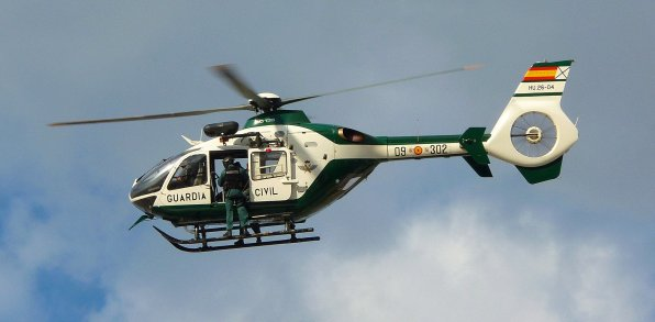 Helicóptero de la Guardia Civil. Foto @guardiacivil