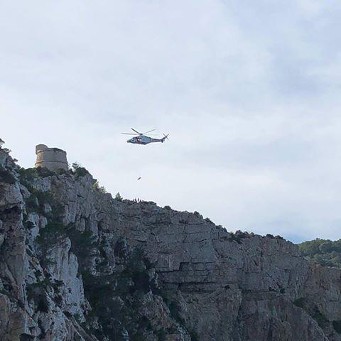 Imagen de archivo de un rescate en la Torre des Molar. Foto J. Dee