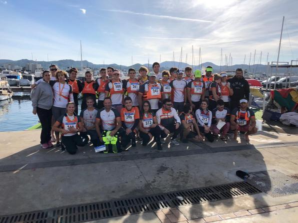 Equipo del CNSA en la Copa Balear de Kayak de Mar