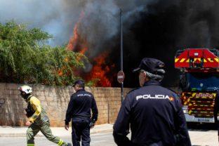 Incendio en el edificio okupa de es Viver. Foto Untaltoni
