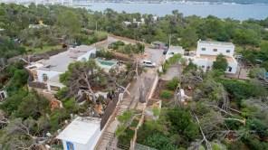 Destrozos del temporal y del tornado en Sant Antoni.
