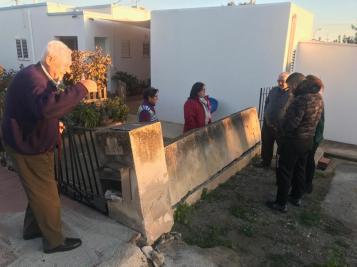 Desperfectos en una casa de Sant Josep tras accidente de coche
