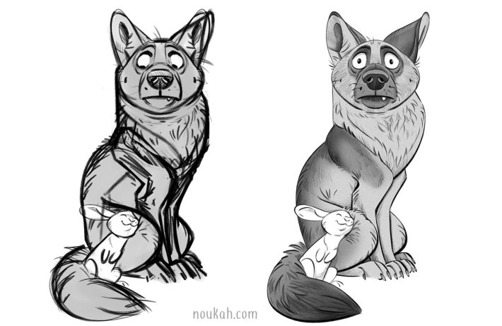animal sketches by Noukah