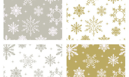Silver And Gold Flake-christmas in The Ultimate Christmas Round-Up: Patterns, Brushes, Vectors and Fonts