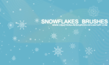 Snowflakes Brushe-christmas in The Ultimate Christmas Round-Up: Patterns, Brushes, Vectors and Fonts