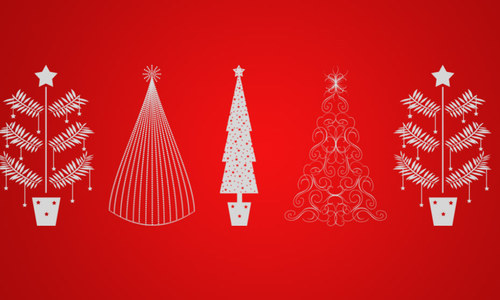 Tree-christmas in The Ultimate Christmas Round-Up: Patterns, Brushes, Vectors and Fonts