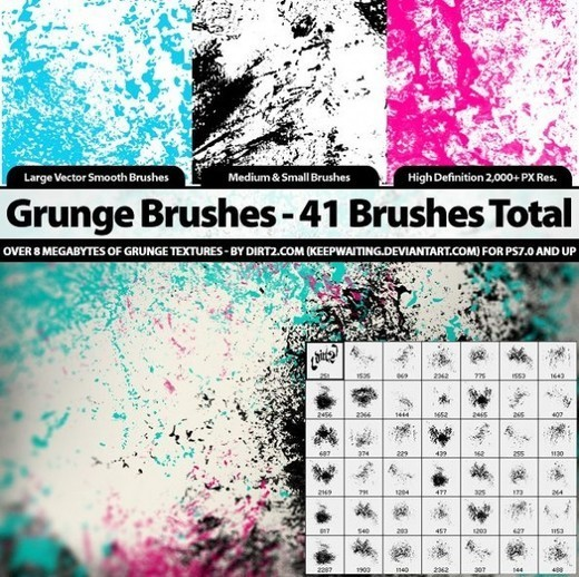 Grungebrushes43 in 100+ Free High Resolution Photoshop Brush Sets