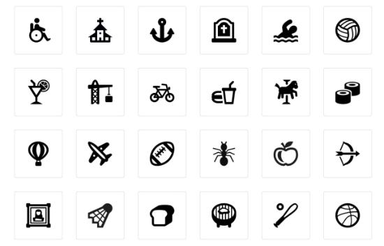 Map Icons Designer: 200 Map Symbols plus 10 Location Pins