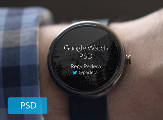 Create For The Next Big Thing Free Android Wear UI PSD