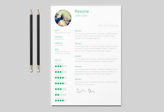 26 Free Resume Templates To Give You That Career Boost Noupe