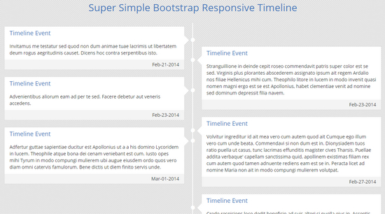 simple bootstrap timeline