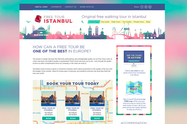 walking tour website template