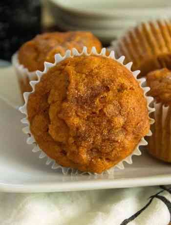 pumpkin muffins close up