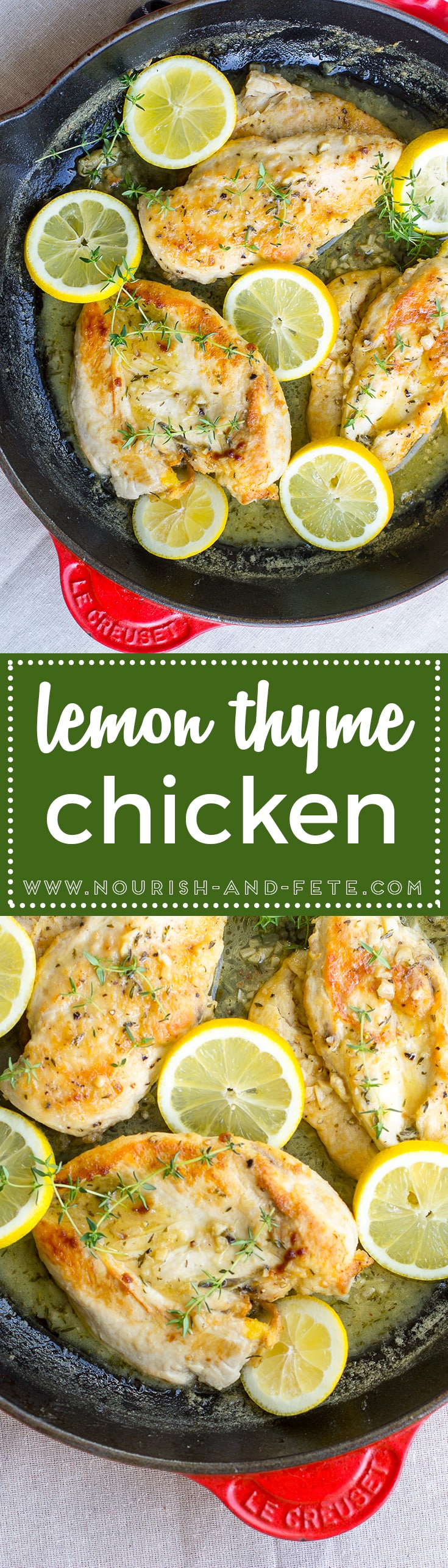 Quick lemon thyme chicken will be your new favorite weeknight dinner!