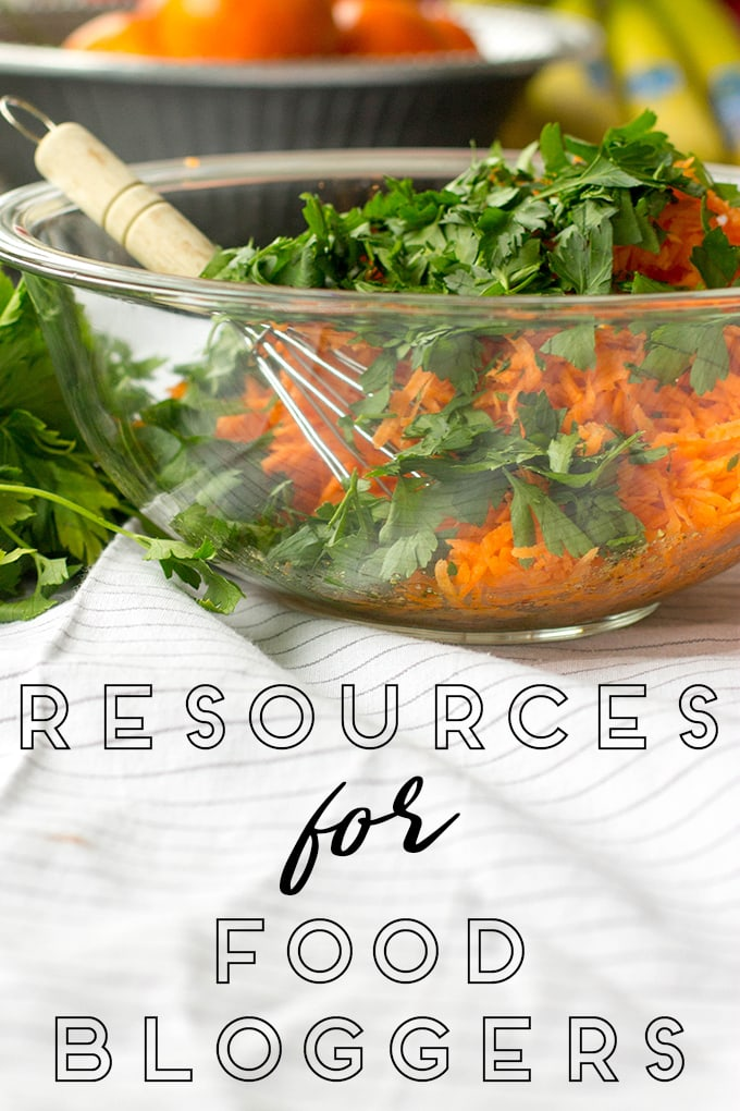 Resources for Food Bloggers - photography, web hosting, design, photo submission sites, and more.