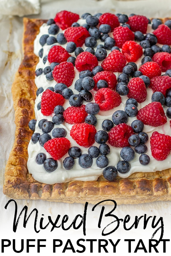 Mixed berry puff pastry tart