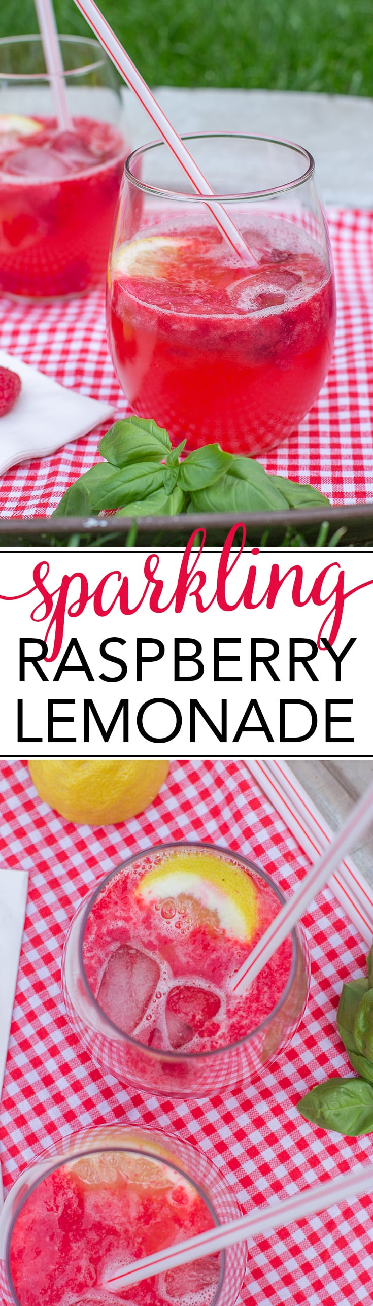 It's summertime! Relax with a tall glass of sparkling raspberry lemonade. Fresh and homemade from just four ingredients. www.nourish-and-fete.com