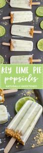 Key lime pie popsicles | Wholesome citrus popsicles with Greek yogurt, naturally-sweetened with honey, sugar-free.